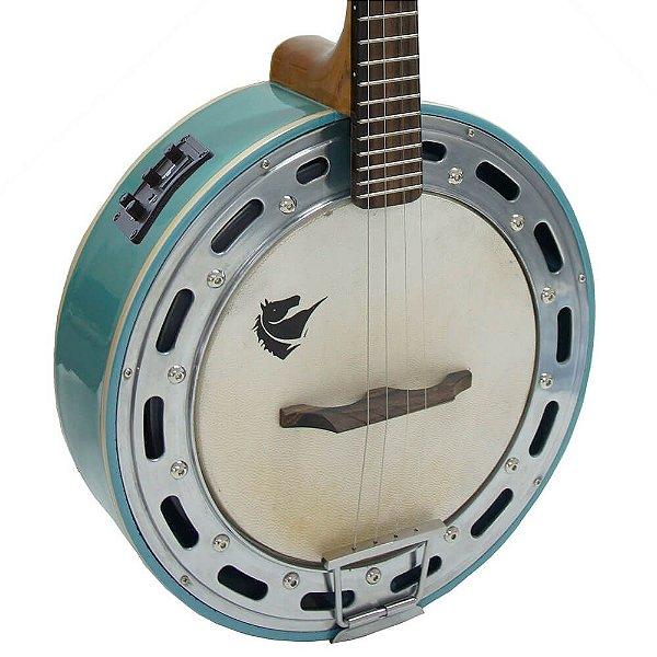 Banjo Eletro-Acústico Marquês BAJ-88 Ativo 4 Cordas Azul