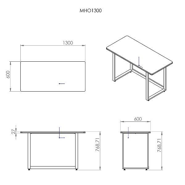 Mesa Office MHO 1300 Venezuela - borda 27mm