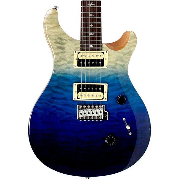 Guitarra PRS CU4Q Custom Quilted Top Blue Fade