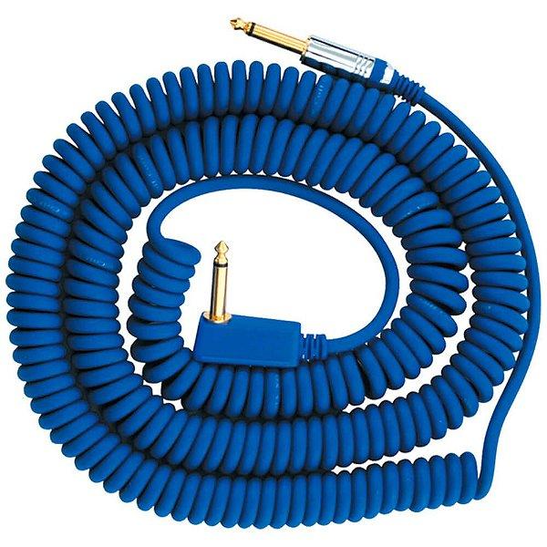 Cabo Espiral Vox VCC-90 P10 90º 9m Blue para Instrumentos