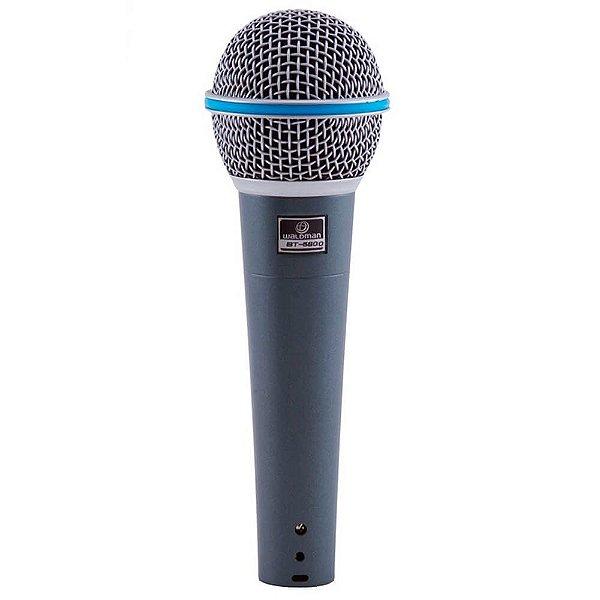 Microfone Dinâmico Waldman BT-5800 Broadcast Super Cardioide