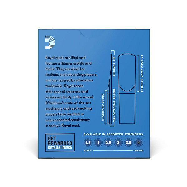 Palheta D'Addario RIB1015 Sax Soprano 1.5 Woodwinds Rico Royal (caixa com 10)