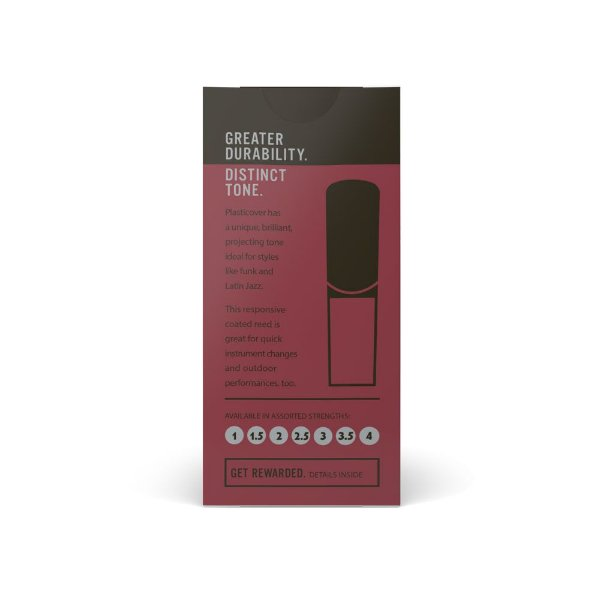 Palheta D'Addario RRP05ASX250 Sax Alto 2.5 Woodwinds Plasticover (caixa com 5)