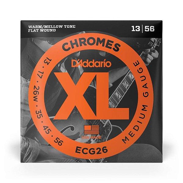Encordoamento D'Addario ECG26 Guitarra 013 XL Chromes