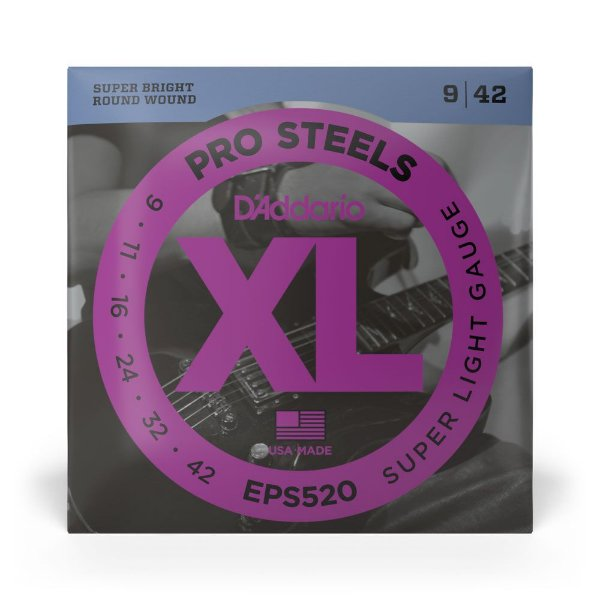 Encordoamento D'Addario EPS520 Guitarra .009 XL Pro Steels