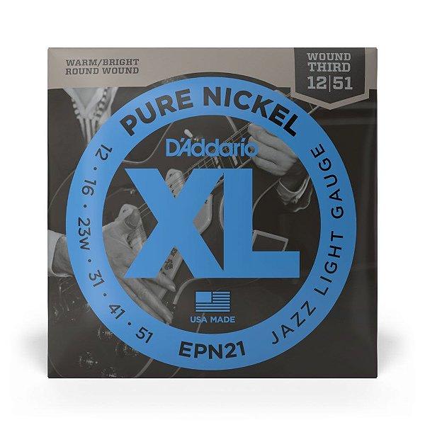 Encordoamento D'Addario EPN21 Guitarra .012 XL Pure Nickel
