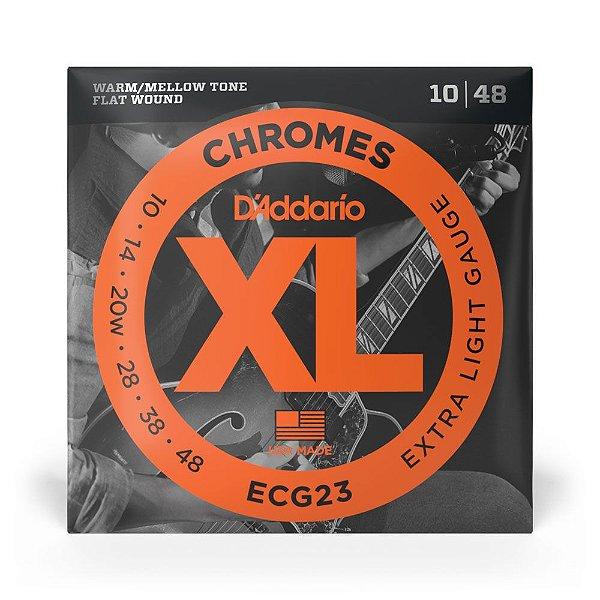 Encordoamento D'Addario ECG23 Guitarra Lisa .010-.048 XL Chromes