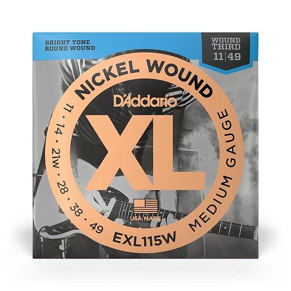 Encordoamento D'Addario EXL115W Guitarra 3ª Encap .011