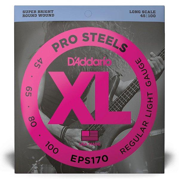 Encordoamento D'Addario EPS170 Baixo 4C .045 XL ProSteels