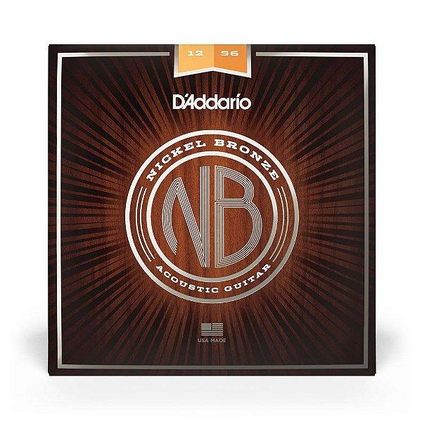 Encordoamento D'Addario NB1256 Violão Aço .012 Nickel Bronze