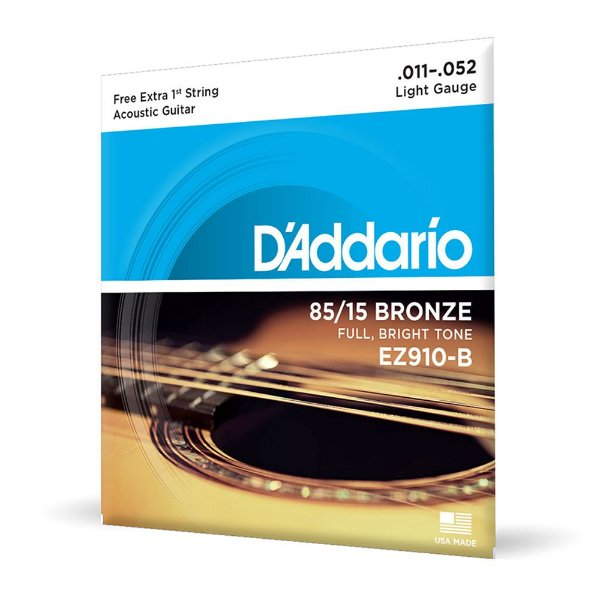 Encord D'Addario EZ910-B Violão Aço .011 Corda Extra PL011