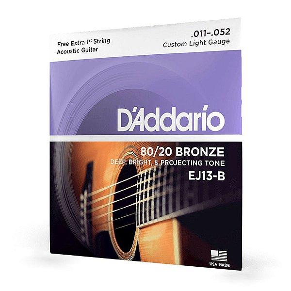 Encord D'Addario EJ13-B Violão Aço .011 Corda Extra PL011
