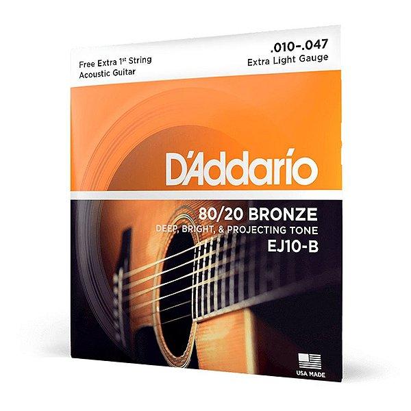 Encord D'Addario EJ10-B Violão Aço .010 Corda Extra PL010