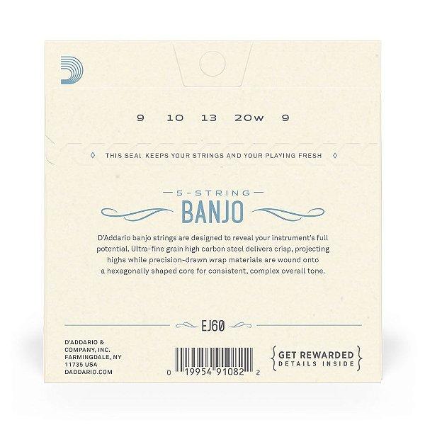 Encord D'Addario EJ60 Banjo 5C .009 Nickel-Plated Steel