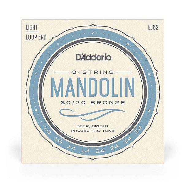 Encordoamento D'Addario EJ62 Bandolim .010 Bronze 80/20