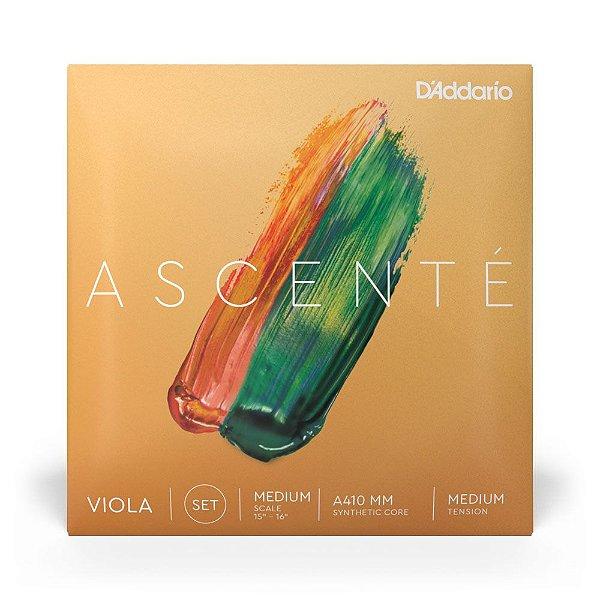 Encordoamento D'Addario A410 MM Viola De Arco Ascenté