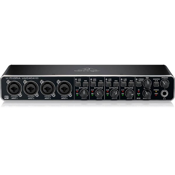 Interface de Áudio Behringer U-Phoria UMC404HD Midas USB