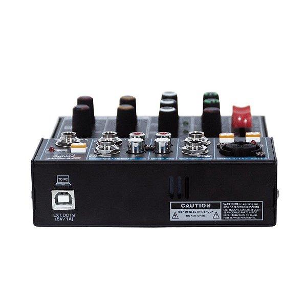 Mesa de Som 5 Canais, Interface/bluetooth - STUDIO MIX 5 - Lexsen