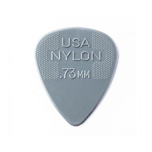Kit com 72 Palhetas Dunlop 44R 0,73mm Nylon Standard Cinza