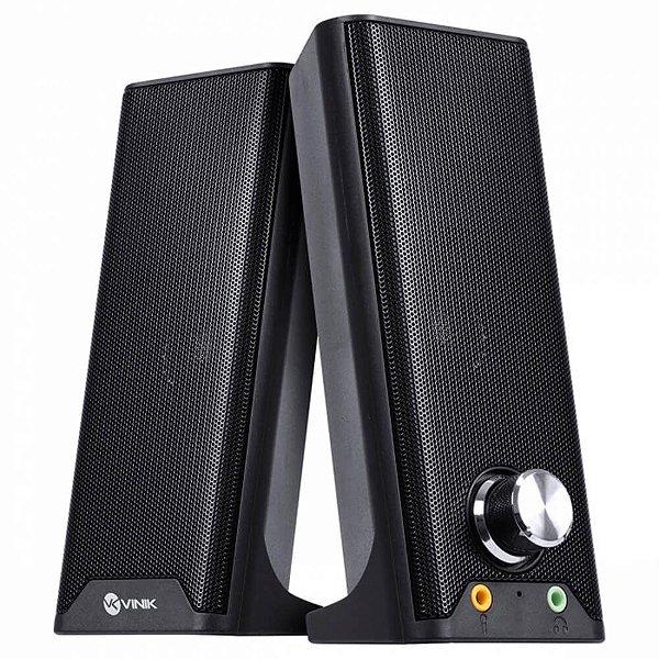Caixa de Som Vinik Dual Basic 2.0 USB CXDU-BSIC 6W P/ PC