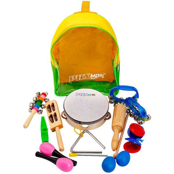 Kit de Percussão Bandinha Infantil Phx TZ10-1 com Mochila
