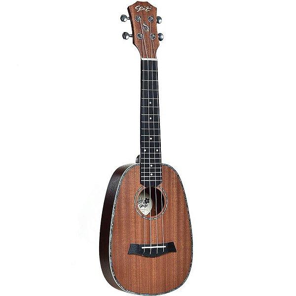 Ukulele Acústico Seizi Maui Plus Pineapple Concert Sapele