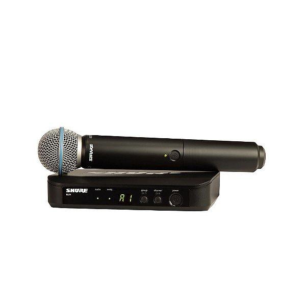 Sistema sem fio com microfone de mao - BLX24/B58-M15 - Shure