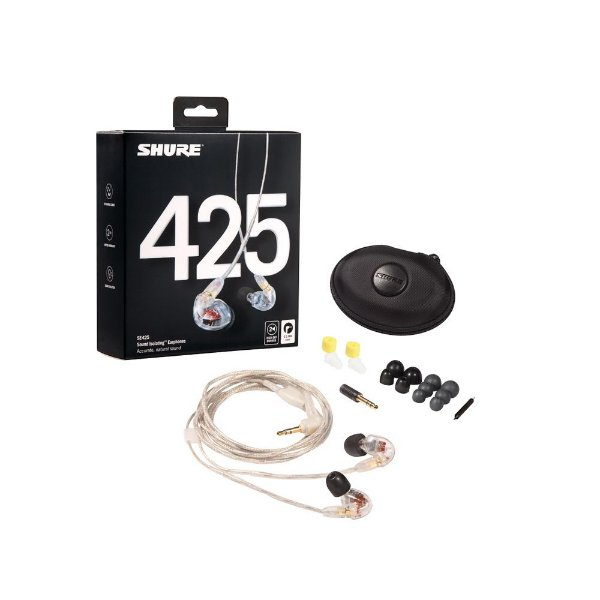 Fone de ouvido in-ear com fio - SE425-CL - Shure