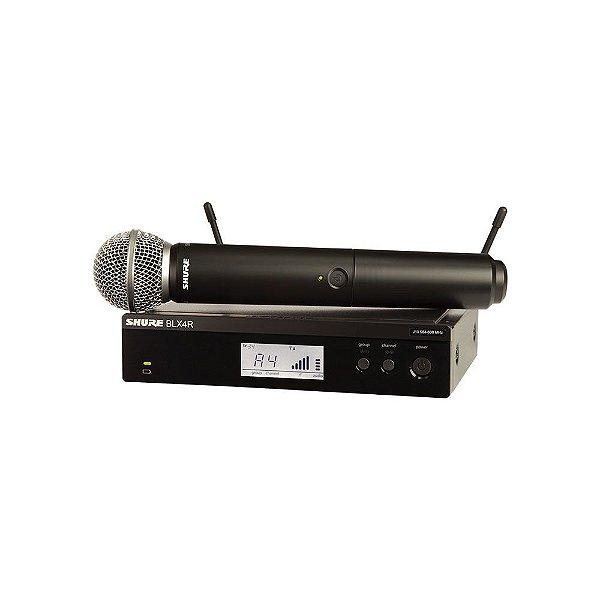 Sistema sem fio com microfone de mao - BLX24RBR/SM58-M15 - Shure