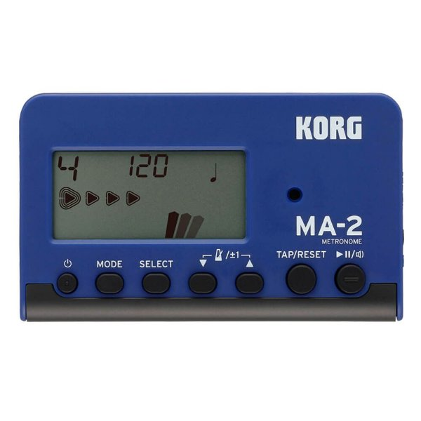 Metrônomo Digital Korg MA-2 BLBK Azul e Preto