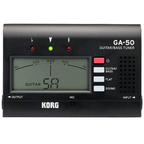 Afinador Compacto Korg GA-50 para Guitarra e Contrabaixo