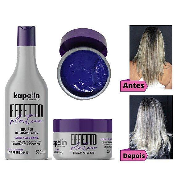 Kit Shampoo e Máscara Kapelin Professionale Effetto Platino