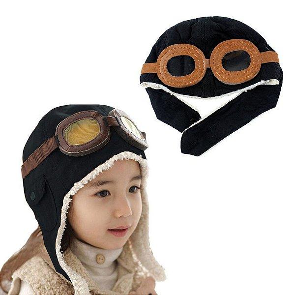 Boina Chapéu Bonés Crianças Infantil Inverno Piloto Aviador 2 modelos