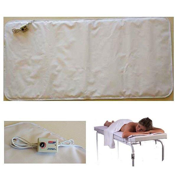 Lençol colchonete térmico elétrico para maca 1,70x0,70m Impermeável Acolchoado Terapias Massagens E841 - Sonobel - 220v
