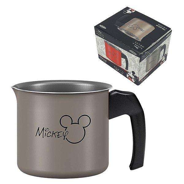 Panela Fervedor Leiteira Alumínio 1,2L Caneca Mickey Antiaderente Leite Cozinha - 7223/366 Brinox - Cinza