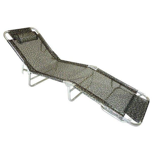 Cadeira Espreguiçadeira Slim Alumínio Onça Ajustável Piscina Praia - Zaka