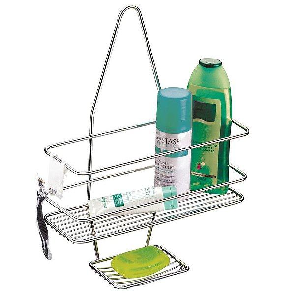 Suporte Porta Shampoo Sabonete De Registro Banheiro Cromado - 997 Future