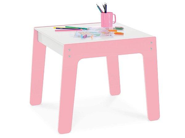 Mesa Mesinha Infantil Brinquedo Para Criança Mdf - Junges - Rosa