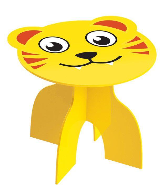 Mesa Infantil Mesinha Animais Kids Brinquedo Criança Madeira Mdf - 970 Junges - Tiger