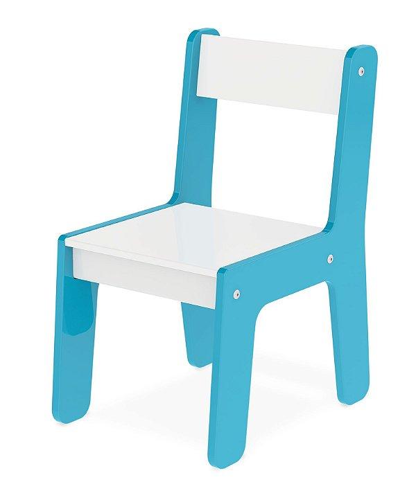 Cadeira Cadeirinha Infantil Mdf Para Mesinha - Junges - Azul