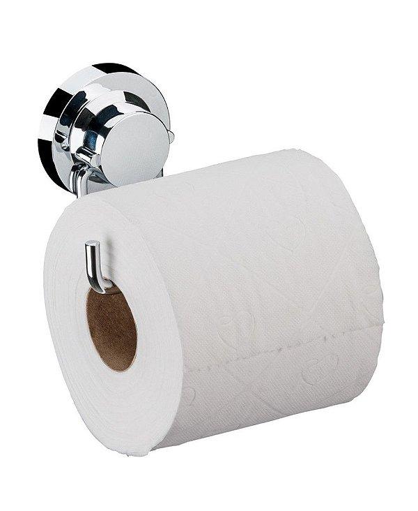 Suporte Porta Papel Higiênico Com Ventosa Banheiro Cromado - 4055 Future