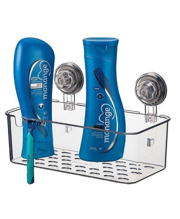 Suporte Porta Shampoo Cesto Com Ventosa Neutro - 403NT Future