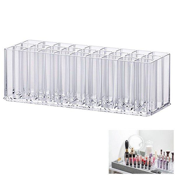 Porta Batom Pincel Gloss Organizadora Maquiagem Acrílica - 1196 Paramount