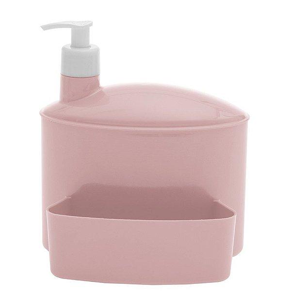 Porta Suporte Dispenser 1 Litro Detergente Esponja Pia - 732 Paramount - Rosa