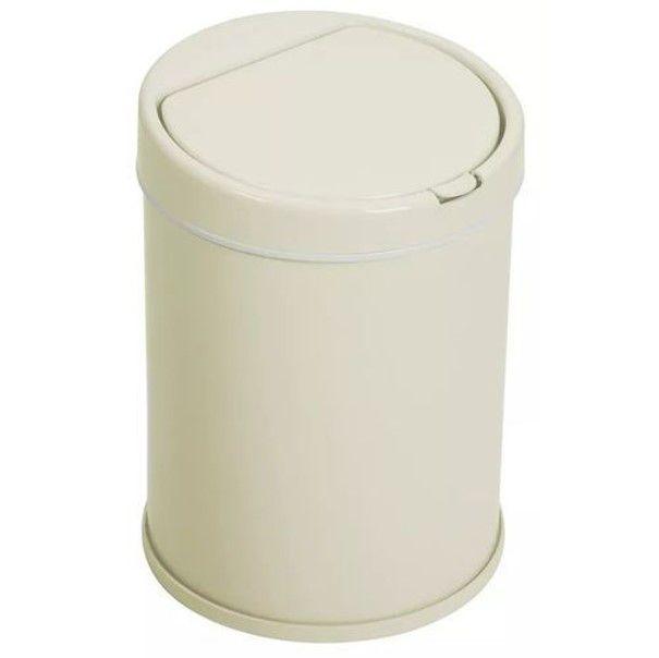 Lixeira 5,5 Litros Aço Pintado Com Balde Tampa Click Pia Cozinha Banheiro - Purimax - Marfim