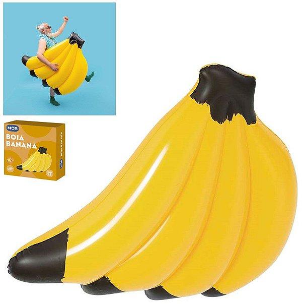 Boia Colchão Inflável Banana Grande Gigante Piscina Praia Verão Até 90kg - 1971 Mor
