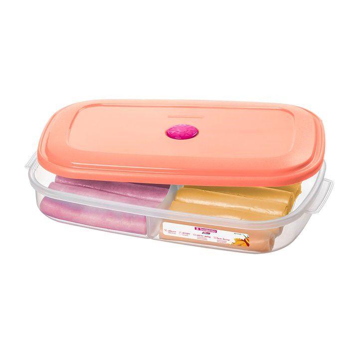 Pote Porta Alimentos Mantimentos Divisória Geladeira Cozinha Plástico - 371 Sanremo - Rosa