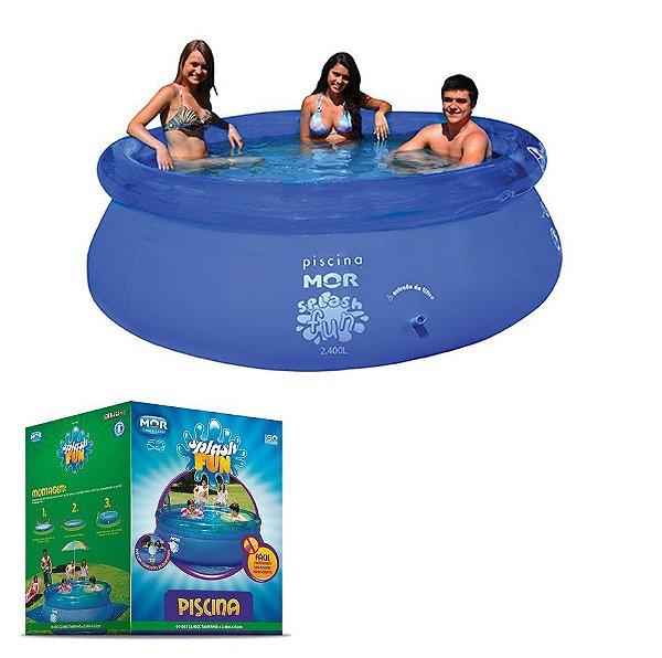Piscina Inflável Splash Fun 2400 Litros Redonda - Mor