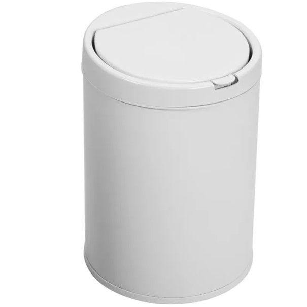 Lixeira Plástica 7,5 Litros Com Tampa Click Cesto De Lixo Cozinha - Purimax - Branco
