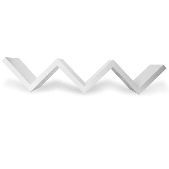 Prateleira Zigzag Tendenza Parede Decorativa 130x25cm Suporte Livros - Pratk